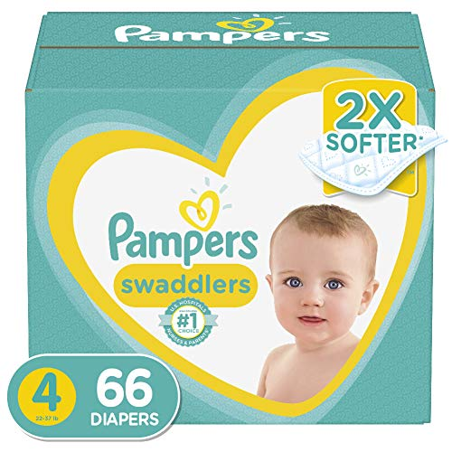 Diapers Size 4, 66 Count – Pampers Swaddlers Disposable Baby Diapers, Super Pack