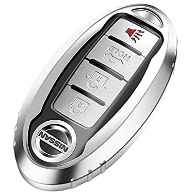 Lcyam TPU Smooth Case Key Fob Cover Silver Fits for Infiniti Nissan Altima SL FWD Maxima Sentra X Trail Patrol Quest Murano Pathfinder Serena Kicks Armada Juke Versa Accessories: Automotive