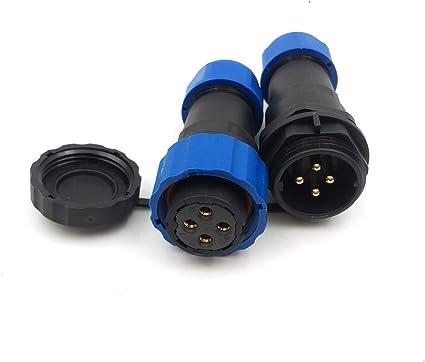 HE20 5 Pin Waterproof Industrial Connector male Plug female socket IP67