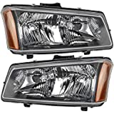 Chevy Silverado 1500 2500 3500 Hd 03 04 Pickup Headlight Head Lamp Pair