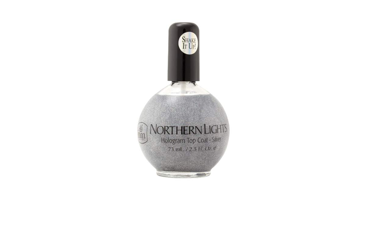 INM Northern Lights Hologram Top Coat Silver 2.5 oz by Nothern Lights