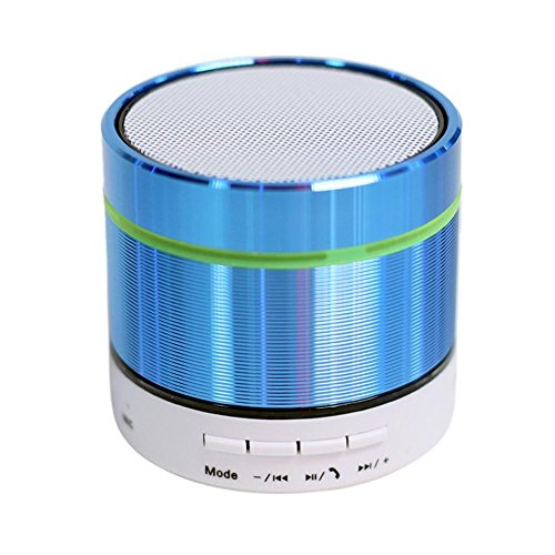 Price comparison product image Bluetooth Speakers, AutumnFall New Super Bass Mini Portable Bluetooth Handsfree Wireless Speaker With LED Light (Blue)