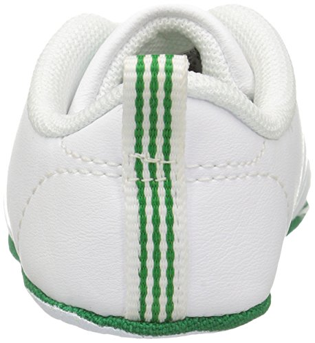adidas NEO Boys' Vs Advantage Crib Shoe, WhiteWhiteGreen, 2 Medium US Infant
