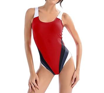 weltweite Auswahl an bester Platz herausragende Eigenschaften Evedaily Damen Schwimmanzug einteiliger Badeanzug Sport ...