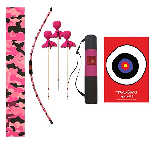 Two Bros Bows Pink Camo Archery Combo Set -