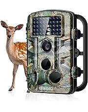 """ENKEEO Wildkamera PH730, 12MP 1080P Full HD Wasserdichte Fotofalle 120°Breite Vision Infrarote 20m Nachtsicht 2.4"""" LCD Outdoor Überwachungskamera IP54 Kamera"""