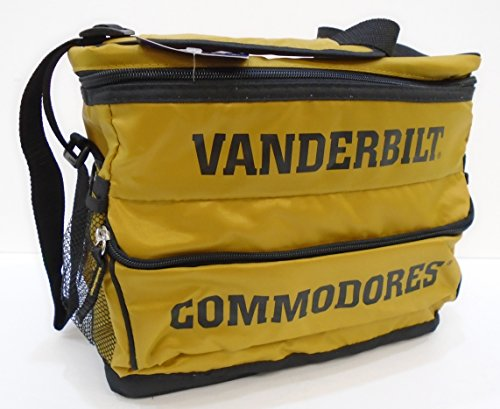 Portable Cooler Bag 18-Can NCAA Vanderbilt Commodores Features Removable Hardliner, Front&Side Pockets and Adjustable Strap, Ideal for - Hardliner Cooler