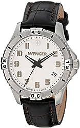 Wenger Women's 0121.106 Analog Display Swiss Quartz Black Watch