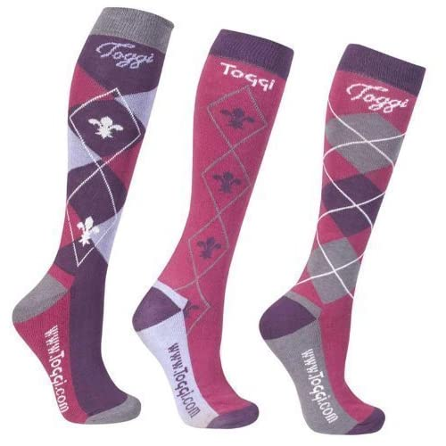 51pbFBQQwEL. SS500  - Toggi Women Chestermere Socks (pack Of 3) - Pink, One Size