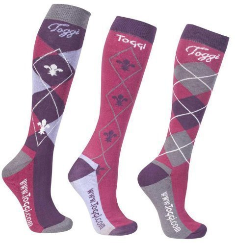 51pbFBQQwEL - Toggi Women Chestermere Socks (pack Of 3) - Pink, One Size