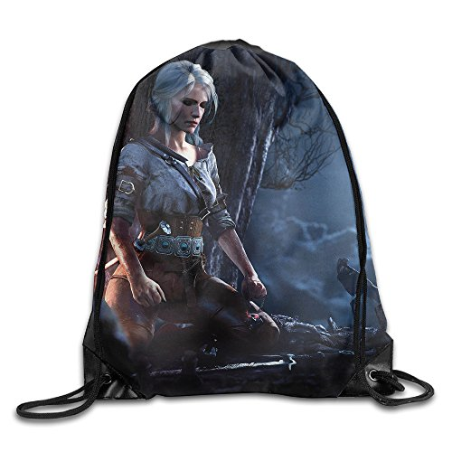 Price comparison product image The Witcher 3 Wild Hunt Logo Drawstring Backpack Sack Bag