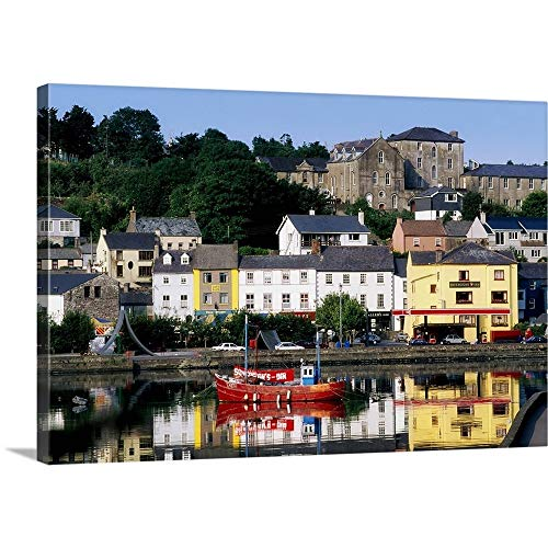 """GREATBIGCANVAS Gallery-Wrapped Canvas Entitled Co Cork, Kinsale by The Irish Image Collection 48""""x32"""""""