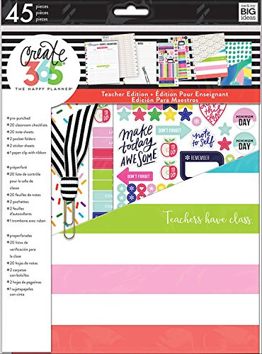 Create 365 The Happy Planner Teacher Edition Accessory Pack, Teachers Have Class and Pocket Folder
