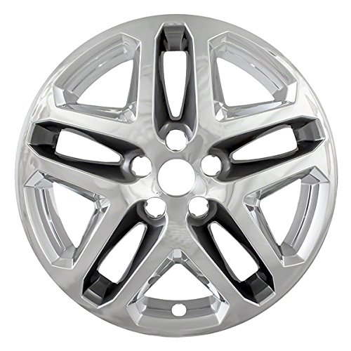 Amazon Com Chrome Charcoal 17 Hub Cap Wheel Skins For Ford