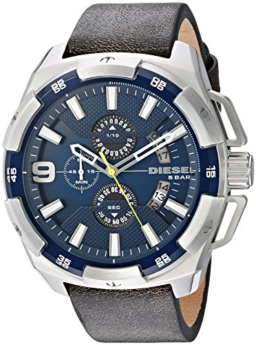 Diesel Men's DZ4418 Heavyweight Stainless Steel Brown Leather Watch