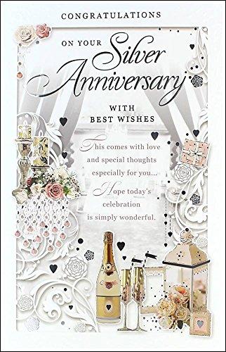 8 Anniversario Di Matrimonio.Argento Anniversario Di Matrimonio Di Colore Champagne Lanterna