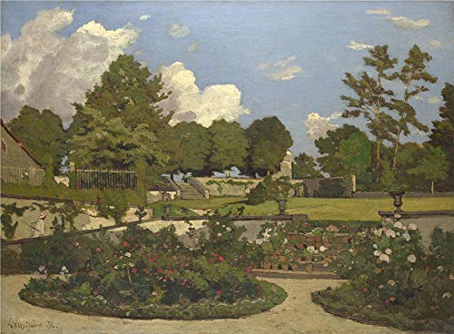 'Henri Joseph Harpignies The Painter's Garden At Saint Priv ' Oil Painting, 18 X 24 Inch / 46 X 62 Cm ,printed On Perfect Effect Canvas ,this Best Price Art -