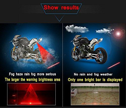 Heart Horse Universal LED Car Motorcycle Laser Fog Light Anti Collision Tail Lamp Auto Motor Braking Parking Signal Warning Lamps