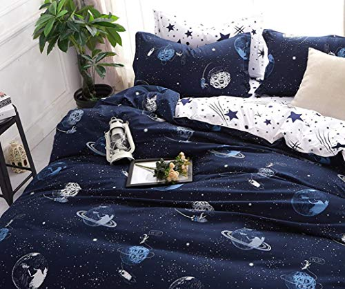Space Star Bedding For Kids Boys linen Pillowcase Sets