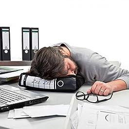 Power Nap Bürokissen Cooles Plüsch-Kissen in Aktenordner-Optik