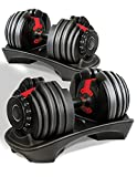 Atlas Adjustable Dumbbells Set 2-24kg Selectable Dial 15 Different Weights Home Gym Fitness Training...