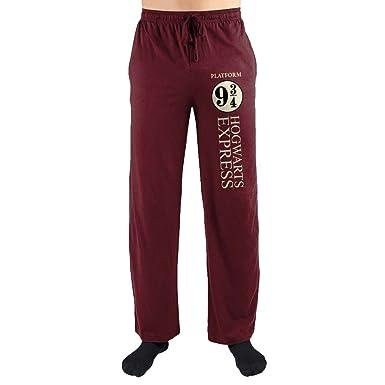 4b473b3d7ea2 Harry Potter Hogwarts Express Platform Nine and Three Quarters Print Men s  Loungewear Lounge Pants Small