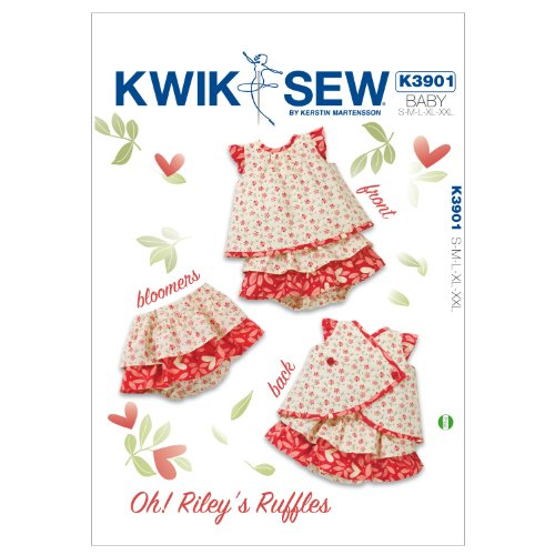 Kwik Sew K3901 Oh! Rileys Ruffles Sewing Pattern, Size S-M-L-XL-XXL by KWIK-SEW PATTERNS