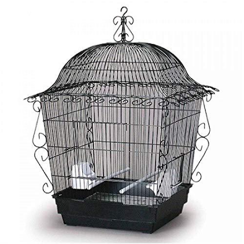 (StarSun Depot Prevue Hendryx Elegant Scrollwork Bird Cage - Black)