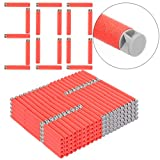 Refill Bullets, Yamix 300-Dart Refill Pack Refill Darts Foam Darts for nerf n strike elite accustrike series blaster - Grey + Red