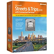 Microsoft Street & Trips 2008 GPS with Connected Services [Old Version]