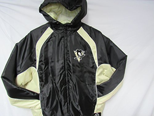 G-III Sports Pittsburgh Penguins Mens X-Large Embroidered Full Zip Hooded Winter Jacket B1 11 XL