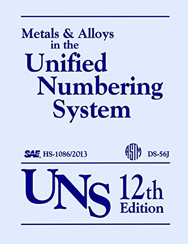 Metals and Alloys in the Unified Numbering System (UNS): 12th Edition DS56K