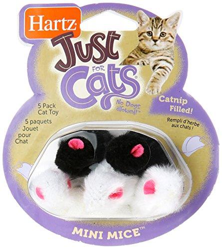 Hartz 95986 At PlayTM Mini MiceTM Cat Toy 5 Count Assorted C