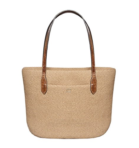 Eric Javits Luxury Fashion Designer Women's Handbag - Squishee Jav IV - Peanut by Eric Javits