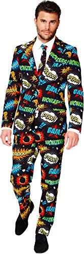 Mens 'Badaboom' Party Suit and Tie by OppoSuits, (Gay Guy Halloween Costumes)