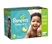 Pampers Baby Dry Diapers Size 3 Giant Pack 144.0ea (pack of 2) by Diapers