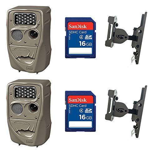 Cuddeback 20MP Trail Camera (2 pk) + 16GB SD Card (2 pk) + Camera Mount (2 pk)