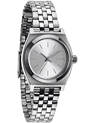 Nixon Small Time Teller Silver Dial Stainless Steel Ladies Watch A3991920