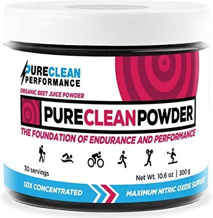 PureClean Powder - 100% USA Grown Organic Beet Juice Powder - No Fillers, Sweeteners, or Additives (Jar 300 Grams) ()