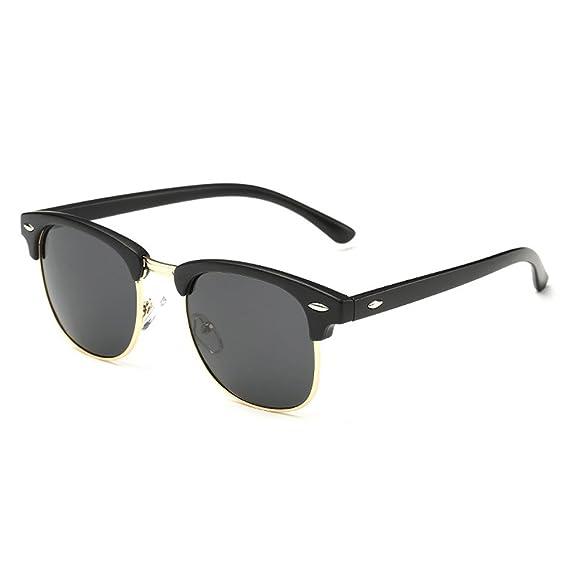 QHGstore Protección UV Hombres Mujeres Deportes Gafas de sol polarizadas Gafas de sol Brillante Negro /