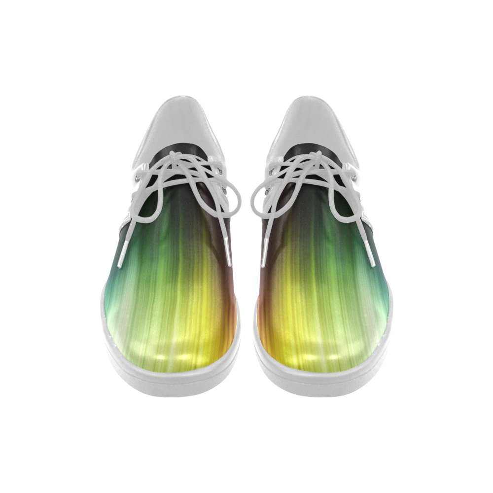 Rainbow Night Lace Up Mesh Cloth Casual Mens Shoes