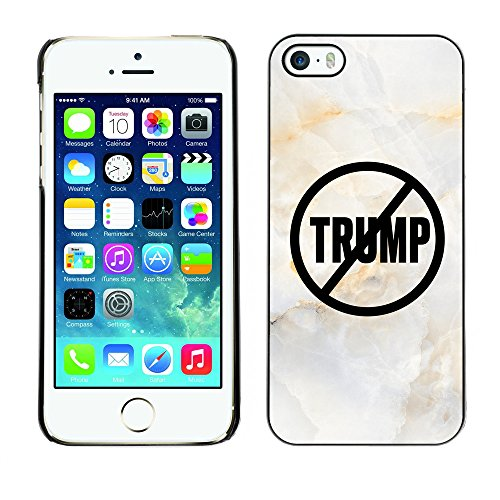 Print Motif Coque de protection Case Cover // Q04110525 Never Trump marbre blanc // Apple iPhone 5 5S 5G