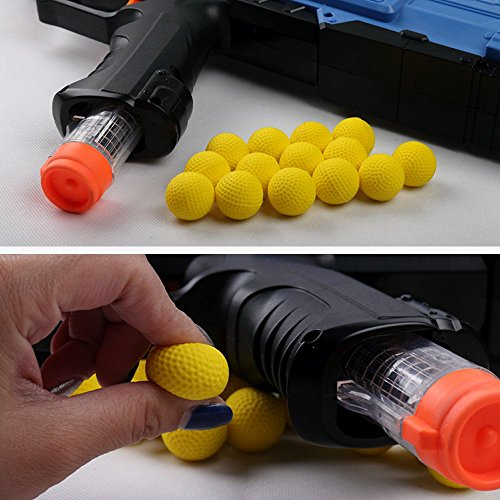 100pcs Rival Compatible Ammo Blasters refill replace round balls Foam Bullet pack for Nerf Rival Apollo, Zeus, Khaos, Atlas, Artemis + Bag by xiaoban (Image #3)