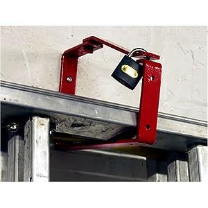 Universal Lockable Ladder Storage Bracket