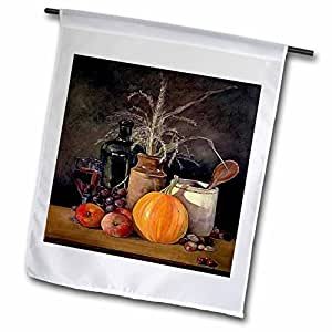 Sandy Mertens Autumn and Thanksgiving - Autumn Harvest Table Painting No. 1-18 x 27 inch Garden Flag (fl_36418_2)