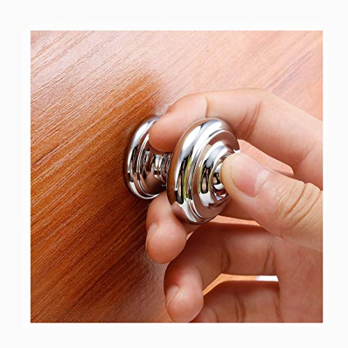 (5 of Pack) VIBORG-HK Deluxe Chrome Kitchen Cabinet Knob and Pulls, Zinc Alloy Die-Cast Dresser Handles,Modern-Style and Great for Kitchen Bathroom Cupboards Drawers Dressers Cabinets