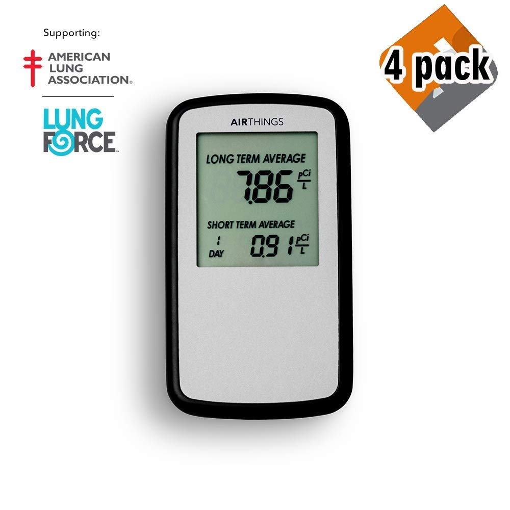 Lightweight USA Version AAA Battery Operated pCi//L 3 Easy-to-Use, Corentium Home Radon Detector by Airthings 223 Portable
