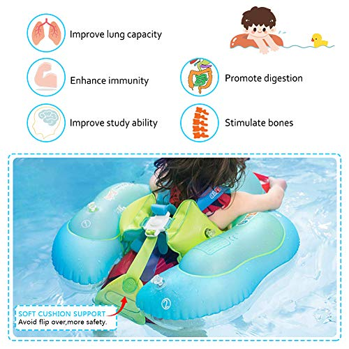 Delicacy Baby Swimming Float, Baby Inflatable Floats Ring Safety Belt Bathtub Swimming Pool Suitable for 6-36 Months,Size L [Upgraded Version] by Delicacy (Image #1)