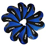 MEITK Neoprene Golf Club Iron head Covers,Waterproof Protection Iron head and Keep away from Dinging with PVC Window- Set of 10