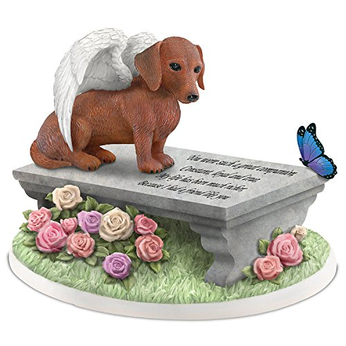 Blake Jensen Dachshunds Leave Paw Prints On Our Hearts Pet Memorial Figurine by The Hamilton Collection (Angel Dachshund)